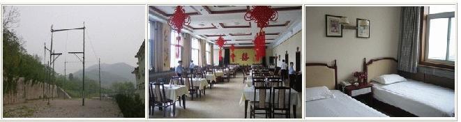 --> 北京龙海山庄是集餐饮,住宿,健康休闲,娱乐为一体的高档次,多功能酒店。山庄坐落在北京房山距闻名中外的世界文化遗产北京猿人遗址仅一公里。山庄背靠青山,院内树木花草,掩映生辉,环境优雅静溢。山庄拥有宽敞明亮,舒适清洁,设备齐全的客房二十余套,40多个床位(其中总统套房2套),餐厅设有8个包房,共200余个餐位,可提供各道菜肴,可承办大型宴会,酒会。山庄设有各种规格的会议室,多功能餐厅及完善的配套设施,本山庄以经营上的灵活性和服务上的人性化为您提供最大的方便。山庄同时设有台球,乒乓球,棋牌室和桑拿浴,